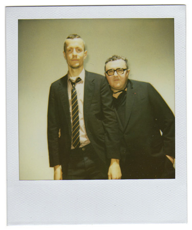 Polaroid picture of Lucas Ossendrijver and Alber Elbaz by Antonio Barros