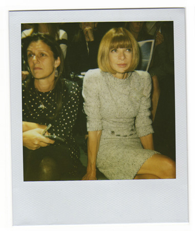 Polaroid picture of Anna Wintour by Antonio Barros