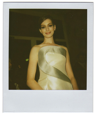 Polaroid picture of Anne Hathaway by Antonio Barros