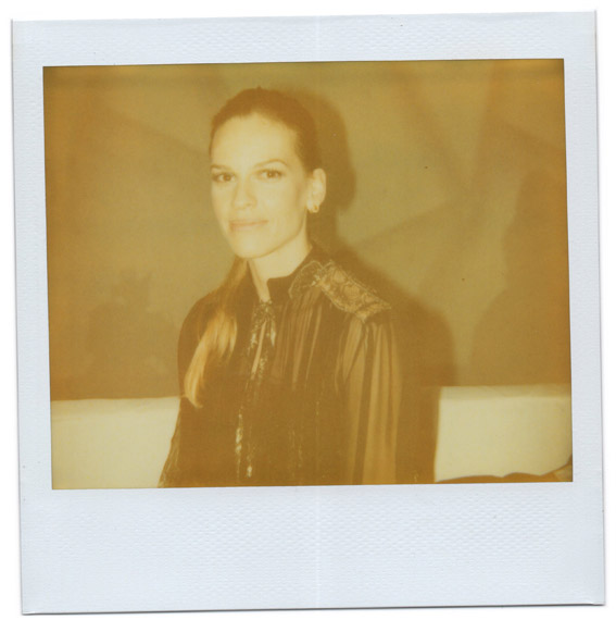 Polaroid picture of Hilary Swank by Antonio Barros