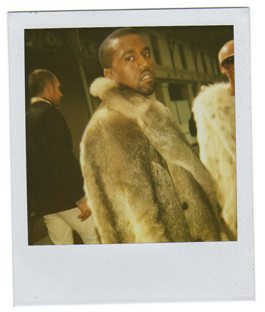 Polaroid picture of Kanye West by Antonio Barros