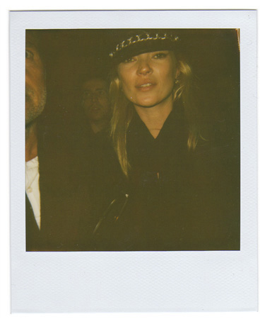 Polaroid picture of Kate Moss by Antonio Barros