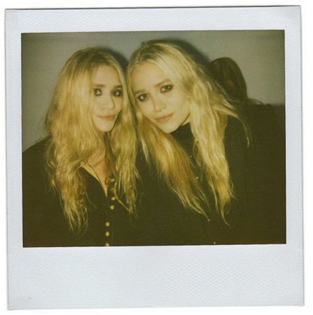 Polaroid picture of Mary-Kate and Ashley Olsen by Antonio Barros