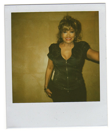 Polaroid picture of Tina Turner by Antonio Barros
