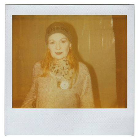 Polaroid picture of Vivienne Westwood by Antonio Barros