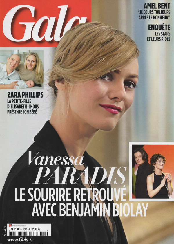 Cover of Gala Magazine with Vanessa Paradis by Antonio Barros